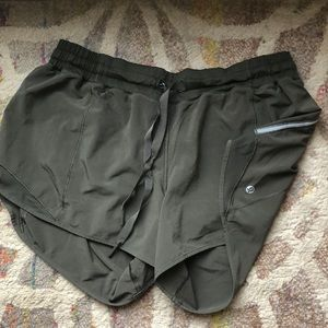 Lululemon athletica dark green shorts size 12